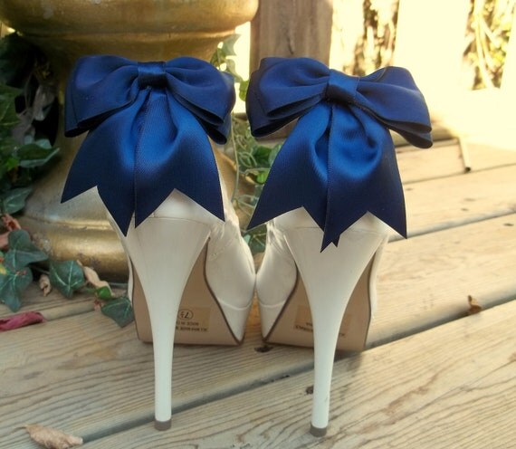 Bridal Shoe Clips,Wedding Accessories, Bridal Accessories, Your Wedding Colors, Satin Bow Shoe Clips, Clips for Bridal Shoes, Wedding Shoes
