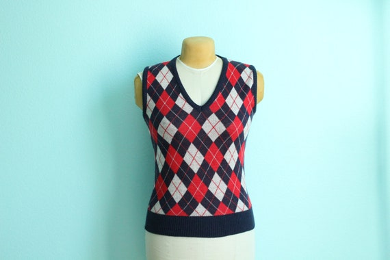 vintage argyle sweater vest // size small - medium