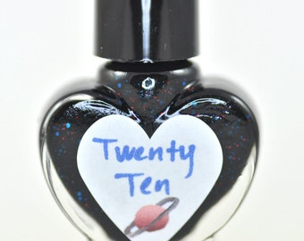 Twenty Ten Red and Blue Glitter Nail Polish 5ml Mini Bottle