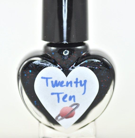 Twenty Ten Red and Blue Glitter Nail Polish 5ml Mini Bottle