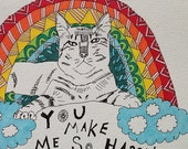 RESERVED for D. Coppola - Rainbow Cat set