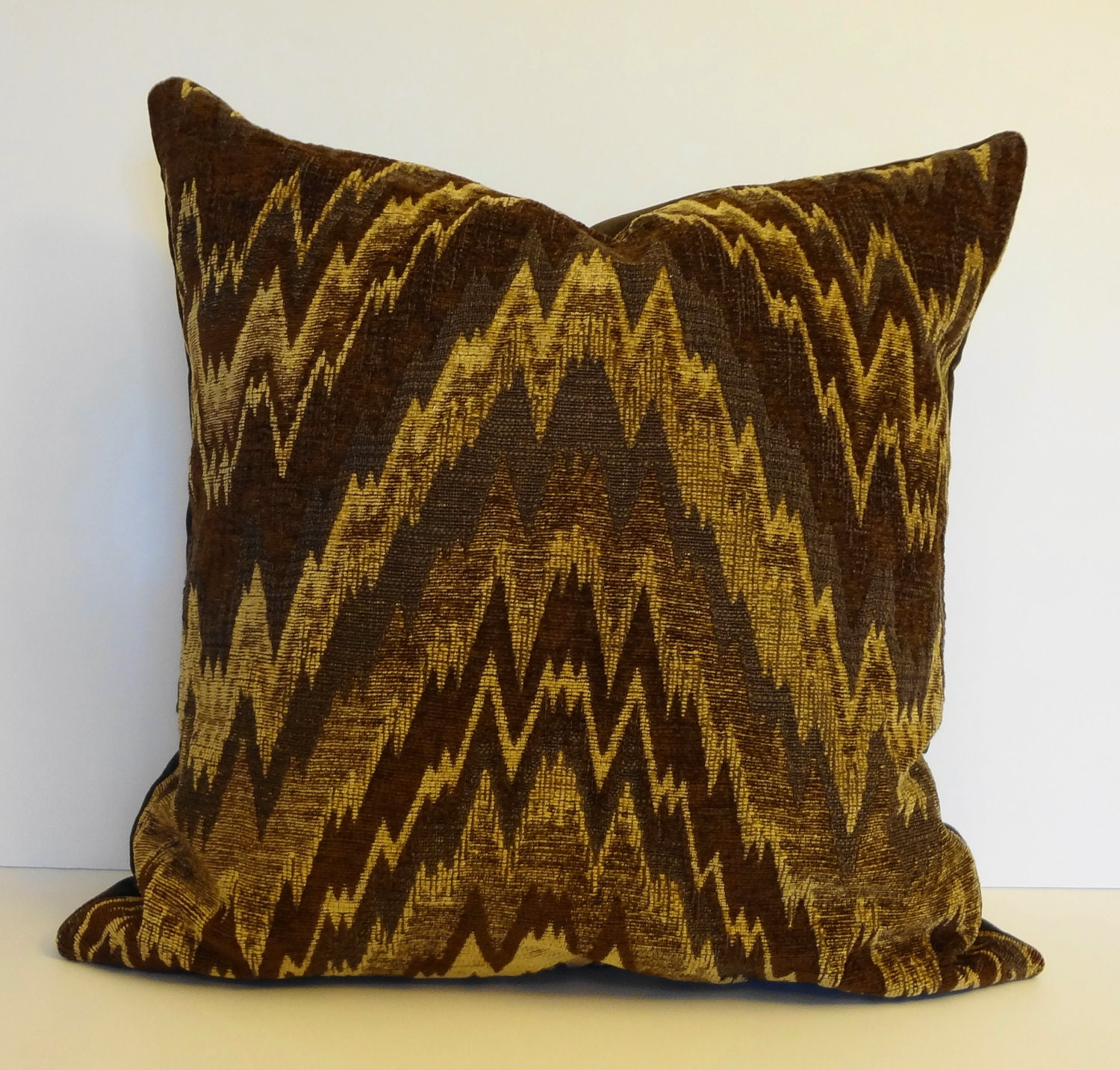Brown Chevron Decorative Designer Pillow Cover 20 x 20
