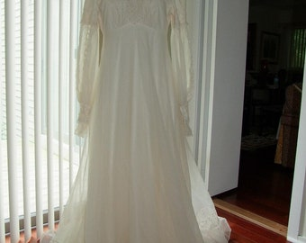 Vintage Renaissance style Wedding Gown ala 1970s