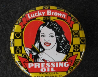 Vintage Lucky Brown Pressing  Oil
