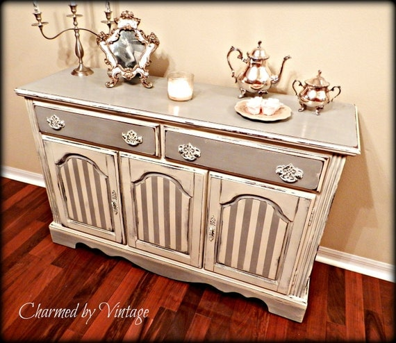 Vintage Shabby French Sideboard Server (RESERVED for LORA)