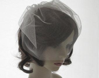 Silk tulle veil, birdcage veil, face veil in silk tulle - Seda