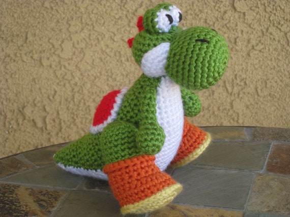 CROCHET PATTERN Yoshi Plush Amigurumi Figurine Doll Stuffed
