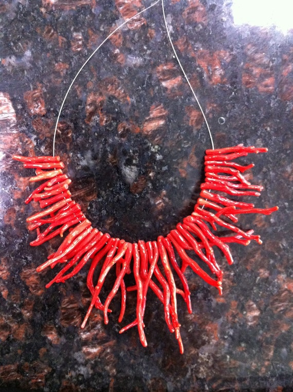 100% natural genuine Italian red coral big branches direct from Italy coral factory, 5 inches strand, size from 20-63mm