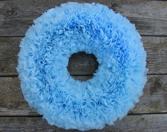 Blue Wreath --- Baby Boy Wreath --- Indoor Outdoor Wreath --- Door Wreath --- Outdoor Wreath --- Spring Wreath --- Summer Wreath