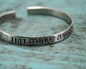 SALE 11 11 Make A Wish Cuff