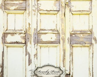 NEW ITEM 5ft x 5ft Vinyl Photography Backdrop  / Yellow Grunge Wall