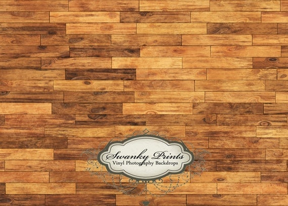 LARGE 7ft x 5ft Vinyl Photography Backdrop / Multi Brown Wood / Weathered Tan Brown Wood