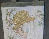 Retro pillowcase bag/purse - Hollie Hobby 1980's