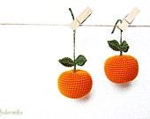 Crochet Mandarin Christmas Tree decoration New Year