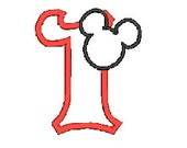Mickey Mouse Applique. Disney Applique, Embroidery Design, (120) Instant Download