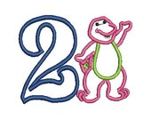 Barney Applique, Embroidery Applique, Barney Birthday Applique (94) Instant Download