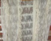 Vintage, Lace Bed Jacket  or Over Jacket -  Long Sleeve, Ruffle