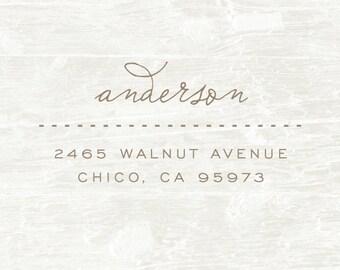 Address Stamp, Custom Address Stamp, Custom Wood Stamp, Personalized Return Address Stamp, Custom Rubber Stamp, Housewarming Gift