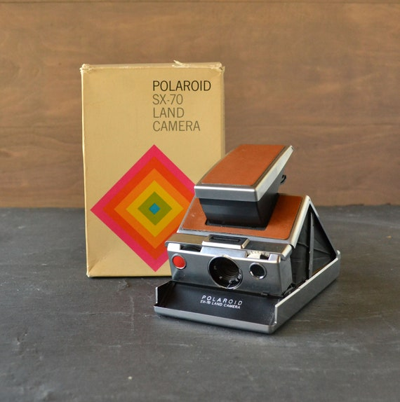 RESERVED Working Polaroid Camera SX 70 Land Model With Original Box from Vintage Resolution