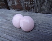 Pretty in Pink. Faceted Big and Bold. Stud Earrings.