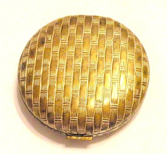 Vintage AVON Compact Mirror Basket Weave Make Up Mirror