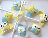Baby Crib Mobile - Baby Mobile - Owl and birds mobile - Neutral Baby Mobile