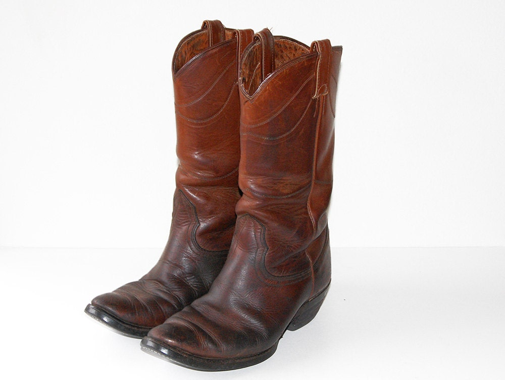 vintage s cowboy boots size 7 5 by peterbest on etsy