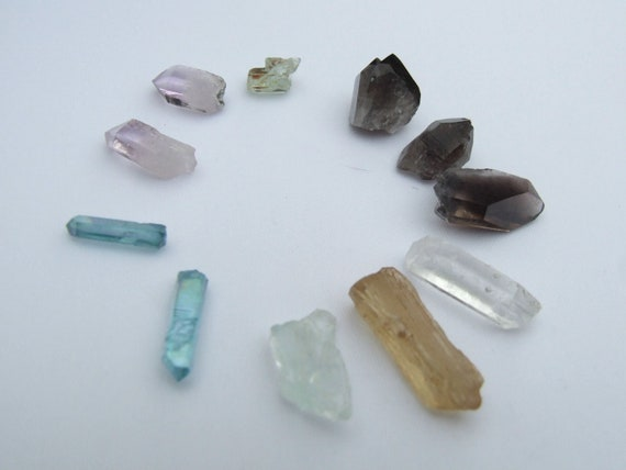 Crystals for WIRE WRAPPING - JEWELRY -  Scapolite, Aquamarine, Sichuan & Smoky Quartz, Aqua Aura, Vera Cruz plus more (4)