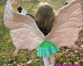 Free Shipping - Dusty Pink Silky Soft Fairy or Butterfly Wings Costume