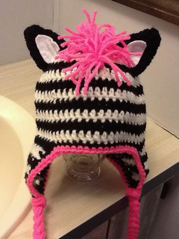 Items similar to Pattern---Crochet Zebra Hat on Etsy