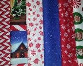 FQ Bundle, Elf on the Shelf by Quilting Treasures, 7 Fat Quarters Total, Christmas Fabric, Christmas Fat Quarters