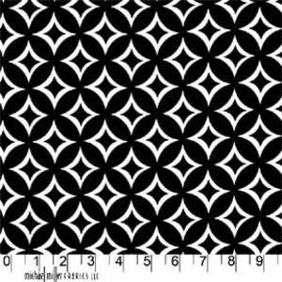 Tweedle Dee Tile in Black, Michael Miller Fabrics, 1 Yard, One Yard