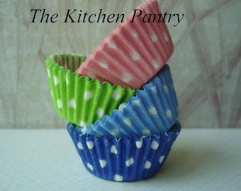 Mini Cupcake Liners - Mini Baking Cups -  Cake Pops -   Polka Dot   bulk  140 mini liners