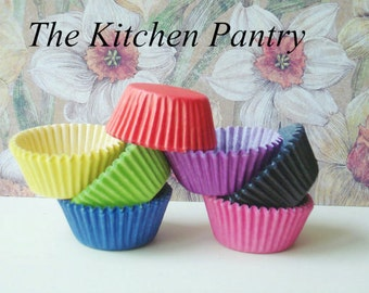 Mini Cupcake Liners -  Mini Baking Cups -  Solid Colors  Cupcake Liners, Candy Cups - (140)