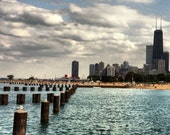 "8x8 inch Original Photography ""Chicago Skyline and Lake Michigan"""