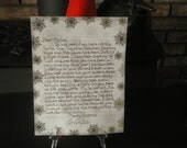Letters to Santa Handwritten W/ North Pole Postmark and Free Wooden Ornament