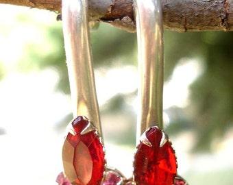 6 gauge silver earrings