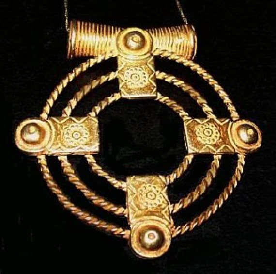 """Vintage Pendant Necklace Sterling Silver & Gold Vermeil Signed 925 Italy AR 25 Grams 18"""" VG"""