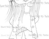 INSTANT DOWNLOAD Digital Digi Stamps Big Eye Big Head Dolls Messy Bessy IMG856 My Besties By Sherri Baldy