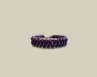 Mco Jewelry Purple Suede and Silver Chain Bracelet (Women)