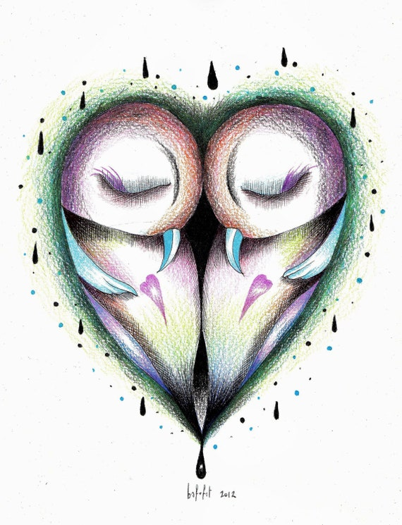 BIRDS HEART (limited edition print ) 3/20