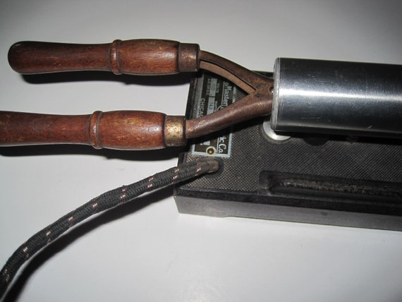 First Electric Curling Iron ~ Rare antique electric curling iron heater s master