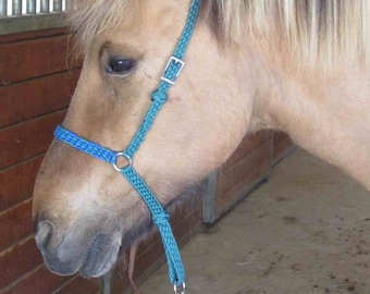 Horse Noseband with Tie Down Strap - Braided