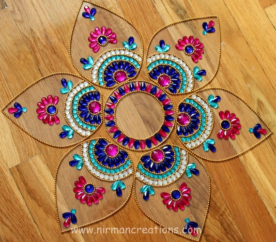 Unavailable listing on etsy for Floor rangoli design