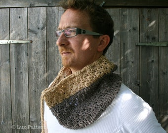 Crochet pattern, Crochet Scarf pattern cowl crochet pattern crochet cowl pattern Crochet Patterns Men scarf pattern Men cowl pattern (81)