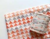 SALE Baby Blanket, Peach Arrows Print, Organic Baby Girl Bedding, Little Hip Squeaks