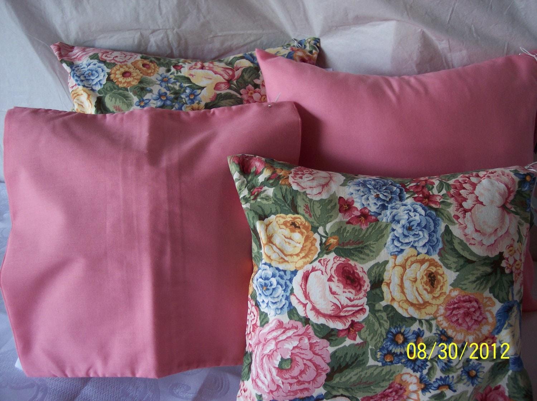 Dusty rose decorative pillows Slate blue by Pursespillowsandmore