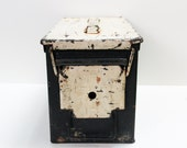 Vintage Black and White Painted Ammo Box