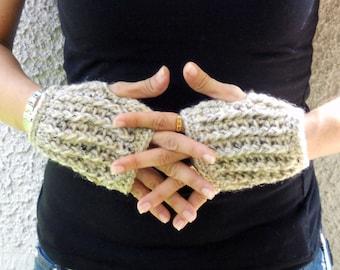 speckled sand hand warmers, festival clothing, rave gloves, fingerless gloves, mittens, texting gloves, crochet gloves, wrist warmers