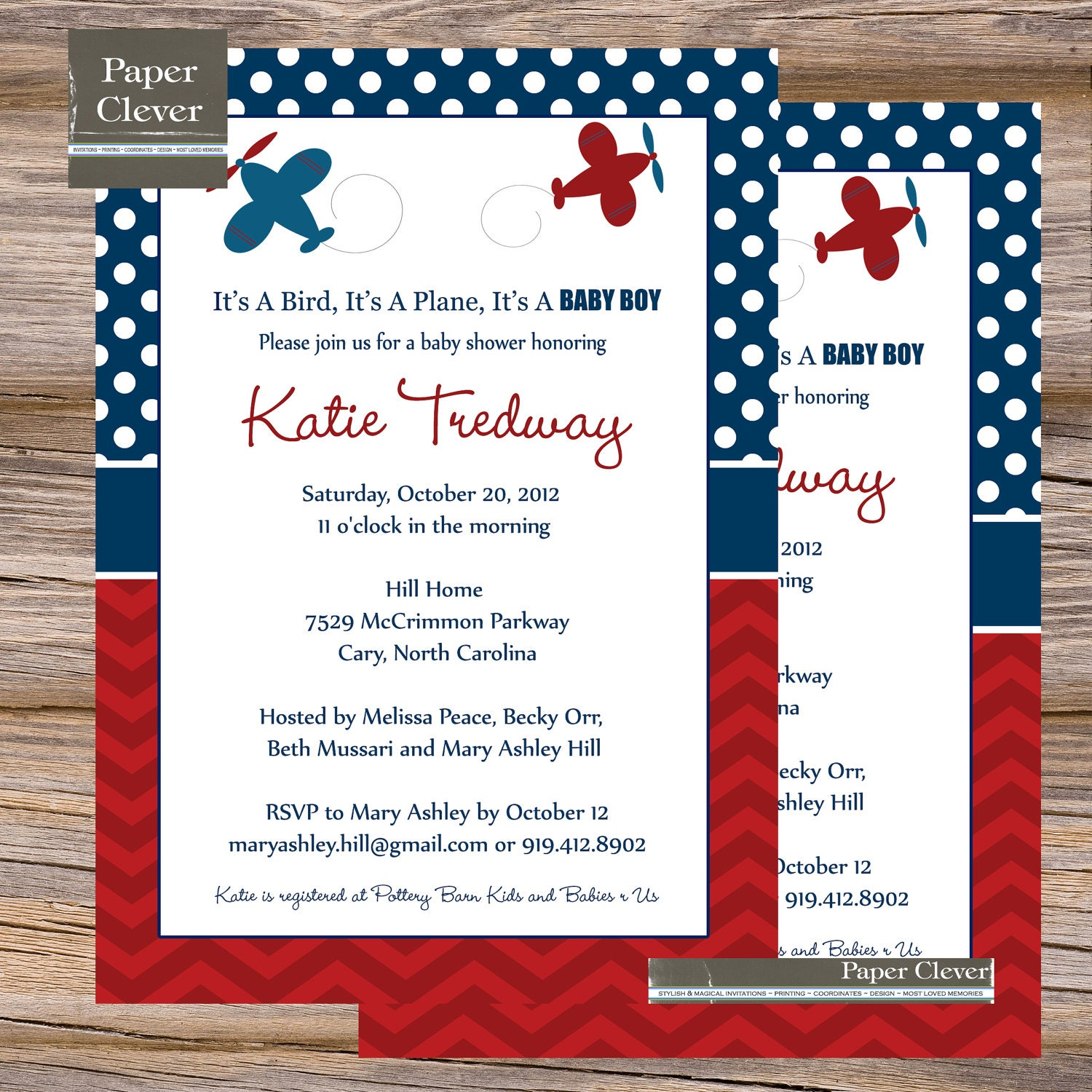 Baby Shower Invitations Wording For Boys: Airplane Baby Shower Invitations Modern Red By